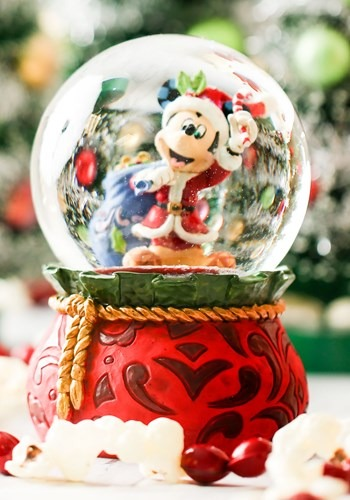 "Santa Mickey 5.5"" Musical Snow Globe"