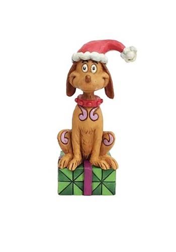 Max with Santa Hat Figurine