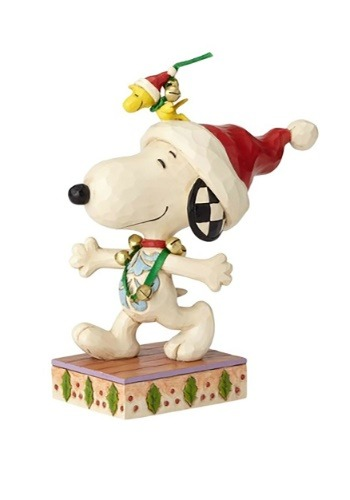 Snoopy with Jingle Bells Figurine