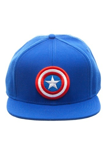 Captain America Logo Snap Back Blue Hat