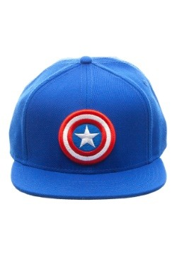 Captain America Logo Snap Back Blue Hat