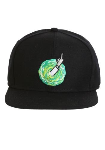 Rick and Morty- Middle Finger Rick Snap Back Hat