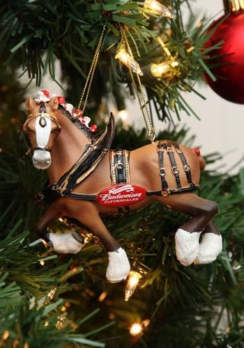 "4.75"" Budweiser Clydesdale Horse Molded Ornament"