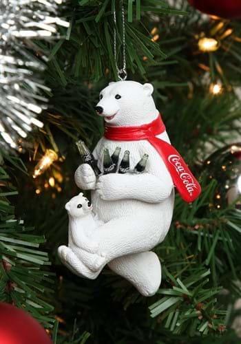 """4.25"""" Coca-Cola Bear w/ Cub Molded Ornament"""