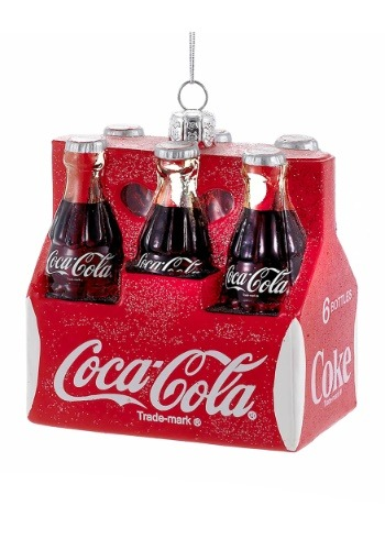 "3.5"" Coca-Cola Six Pack Molded Ornament"