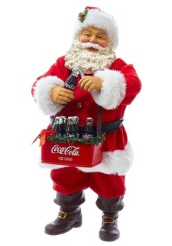 "10"" Santa Opening Coke Tablepiece Décor"
