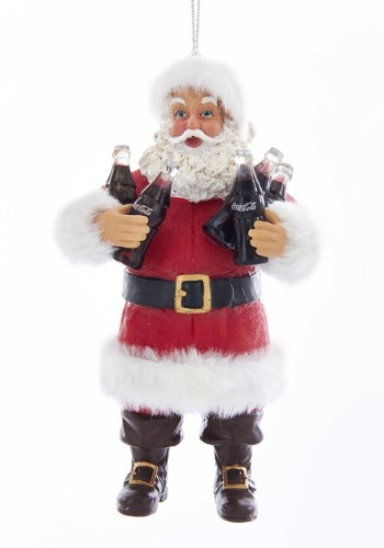 "5"" Santa Sharing Coca-Cola Molded Ornament"
