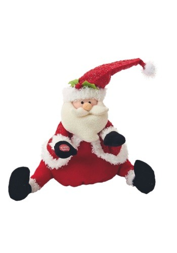 "11.5"" Singing & Dancing Santa Plush Decoration"