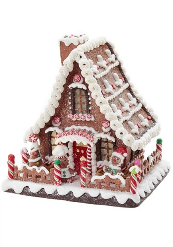 "10"" Claydough Gingerbread LED Light Up House"