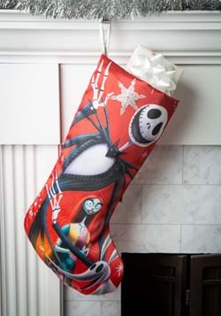 "19"" Nightmare Before Christmas Jack & Sally Satin Stocking"