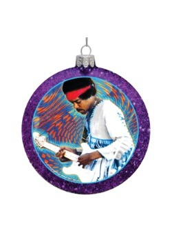 Jimi Hendrix Glass Disc Ornament