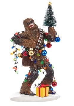 """8"""" Star Wars Fabric Mache Chewy w/ Tree Christmas Tablepiece"""