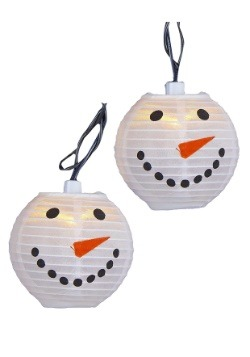 Snowman Head Lantern Christmas Light Set