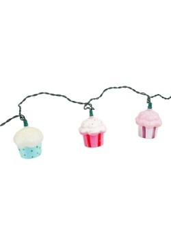 Plastic Cupcake 10 Piece String Light Set