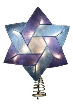 """8.5"""" Star of David Hanukkah Treetopper"""