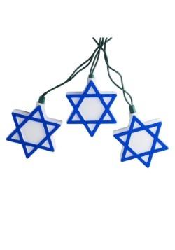 Star of David Hanukkah 10 Piece String Light Set