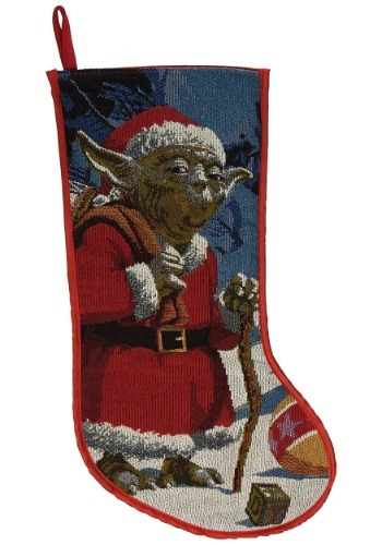"Star Wars Classic Santa Yoda Tapestry 19"" Stocking"