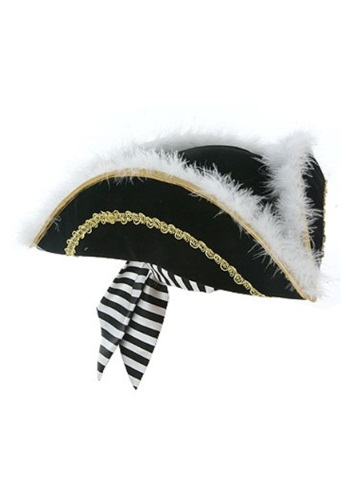 Tricorn Feathered Pirate Hat