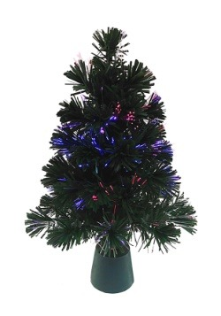 "18"" Fiberoptic LED Color Changing Green Tree"