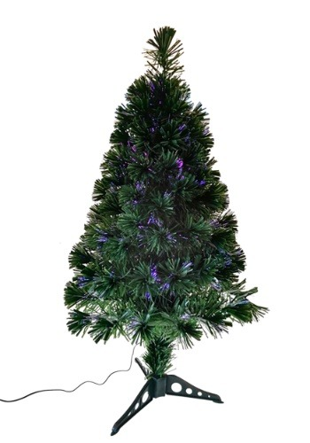 "36"" Fiberoptic Green Multicolor LED Tree"