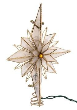 """10.5"""" Capiz Bethlehem Star Treetopper"""