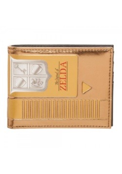 Nintendo Zelda Gold Cartridge Bi-Fold Wallet