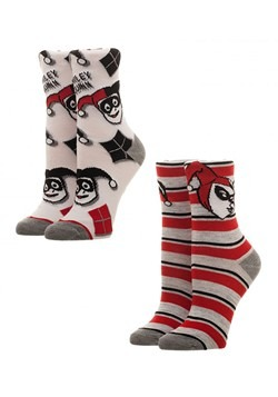 Harley Quinn Juniors 2 Pack Crew Sock Set