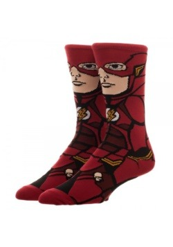 DC Comics Justice League Flash 360 Character Crew Socks-alt2