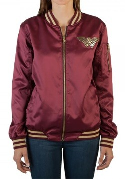 Wonder Woman Logo Bomber Jacket1