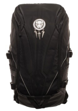 Black Panther Mixed Material Laptop Backpack
