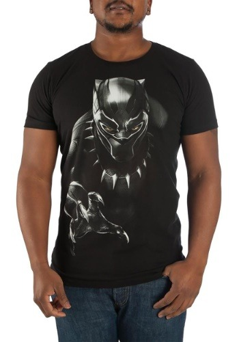 Black Panther Character Men's Black Tee