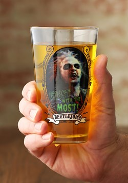 Beetlejuice Ghost with the Most 16 oz Pint Glass