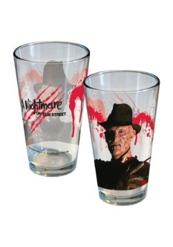 Nightmare on Elm Street Freddy Slash 16 oz Pint Glass