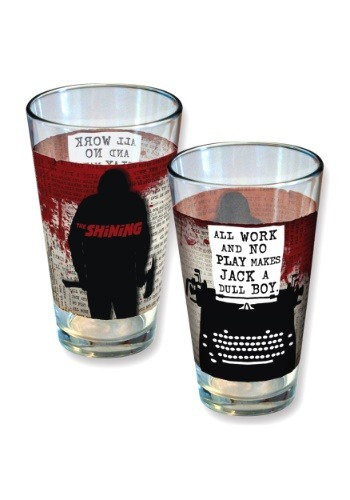 The Shinning All Work and No Play 16 oz Pint Glass