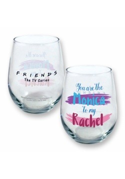 Friends You Are the Monica to My Rachel Stemless Wine Glass