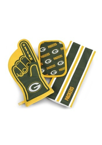 Green Bay Packers #1 Oven Mitt 3-Piece Set