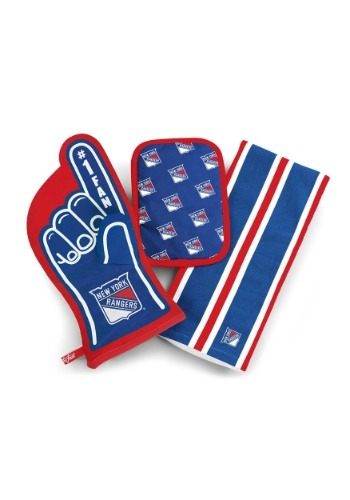 New York Rangers #1 Oven Mitt 3-Piece Set