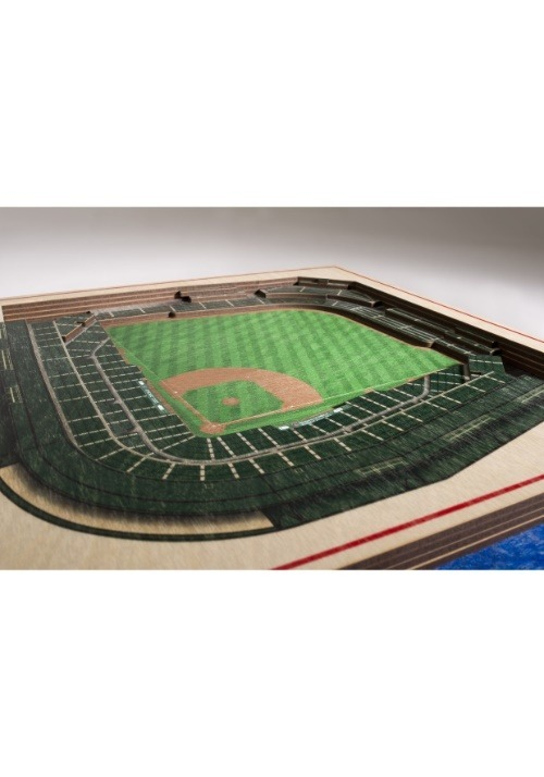 Chicago Cubs 5 Layer Stadiumviews 3D Wall Art Alt 1