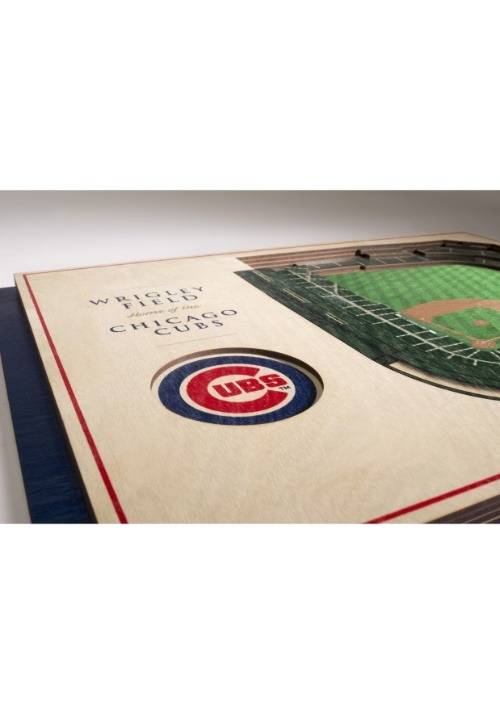 Chicago Cubs 5 Layer Stadiumviews 3D Wall Art Alt 2