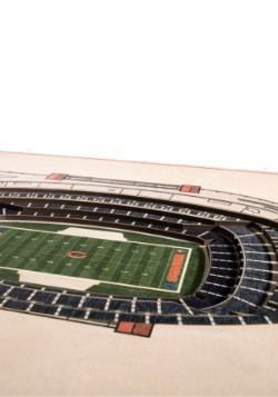 Chicago Bears 5 Layer Stadiumviews 3D Wall Art2