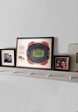 Denver Broncos 5 Layer Stadiumviews 3D Wall Art 3