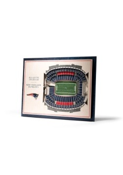 New England Patriots 5 Layer Stadiumviews 3D Wall Art