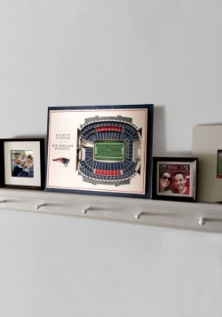 New England Patriots 5 Layer Stadiumviews 3D Wall Art 3