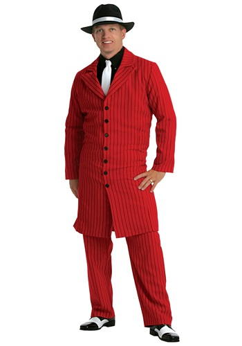 Red Gangster Mens Zoot Suit