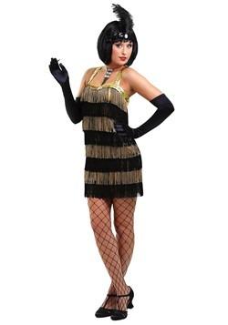 Women's Fringed Gold Flapper Costume