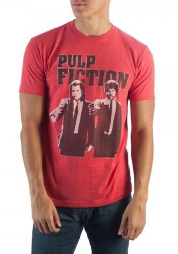 Miramax Pulp Fiction Men's Red Heather T-Shirt