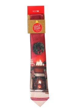 Christmas Fireplace Necktie