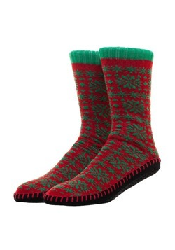 Mens Christmas Ugly Sweater Knit Slipper Socks