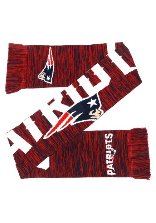 New England Patriots Wordmark Big Logo Colorblend Scarf