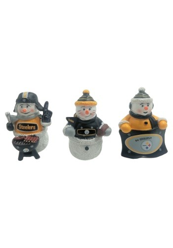 Pittsburgh Steelers 3 Pack Snowman Gameday Ornament Set